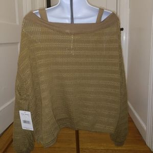 Free People flowey moss green top. NWT